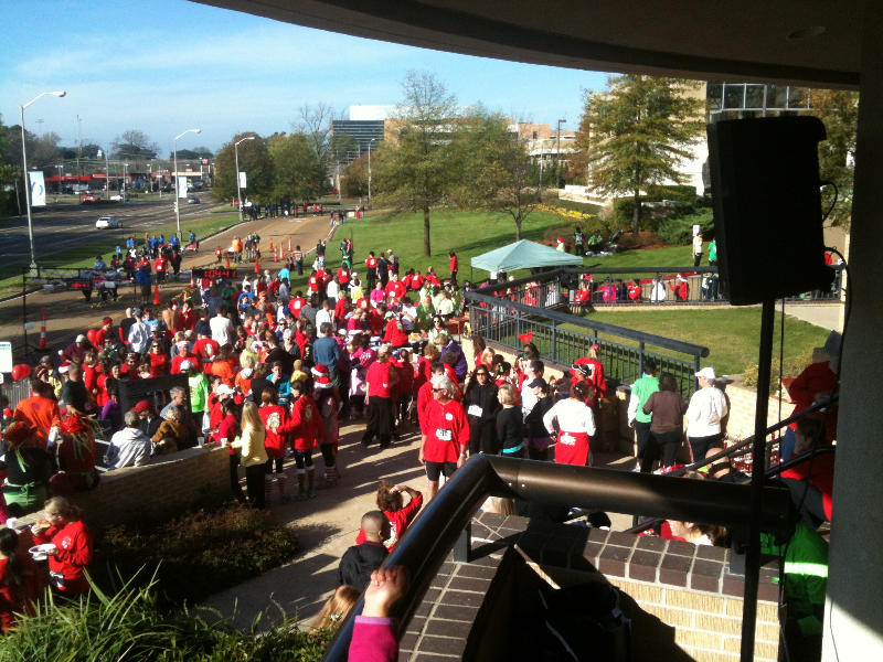 2011 Jingle Bell Jog Charity work
